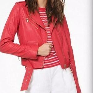 Michael Michael Kors Lamb Leather Moto Jacket NWT